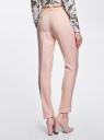 Брюки из фактурной ткани с ремнем oodji для женщины (розовый), 21714019-3/46742/4000N