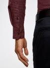 Рубашка принтованная с длинным рукавом oodji #SECTION_NAME# (красный), 3L310137M/19370N/4930G - вид 5