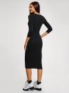 Платье приталенное с надписью oodji #SECTION_NAME# (черный), 14011059/48037/2929P - вид 3