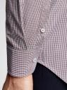 Рубашка приталенного силуэта в мелкую клетку oodji для мужчины (фиолетовый), 3B110006M/25416N/1049C