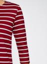 Платье трикотажное в полоску oodji #SECTION_NAME# (красный), 14001162-1/43603/4910S - вид 5