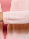 Кардиган вязаный без застежки oodji #SECTION_NAME# (розовый), 63212581-1B/46629/4000N - вид 5