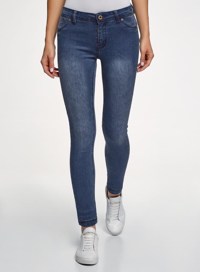 Джинсы skinny из мягкой ткани oodji для женщины (синий), 12104075-1/47926/7500W
