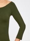 Платье облегающее с вырезом-лодочкой oodji для женщины (зеленый), 14017001-6B/47420/6800N - вид 5