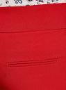 Брюки классические со стрелками oodji для женщины (красный), 11700214-1B/14917/4500N