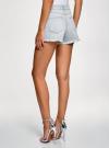 Шорты джинсовые с бисером oodji #SECTION_NAME# (синий), 12807091/46788/7000W - вид 3