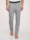 Брюки пижамные принтованные oodji для мужчины (серый), 7L400101I-1/47885N/2010G - вид 2