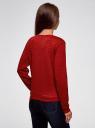 Свитшот прямого силуэта из фактурной ткани oodji #SECTION_NAME# (красный), 24801010-15/47199/4901N - вид 3
