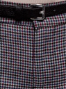 Брюки базовые с ремнем oodji для женщины (серый), 11701029-2B/22124/2349C