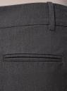 Брюки классические прямые oodji для женщины (серый), 21703075-5B/18600/2500M