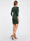 Платье с металлическим декором на плечах oodji #SECTION_NAME# (зеленый), 14001105-2/18610/6E00N - вид 3