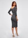 Платье облегающее с вырезом-лодочкой oodji #SECTION_NAME# (черный), 14017001-5B/46944/2912N - вид 3