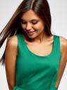 Сарафан приталенный из хлопка oodji для женщины (зеленый), 12C10002B/14522/6D00N