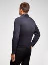 Рубашка базовая приталенная oodji #SECTION_NAME# (синий), 3B140000M/34146N/7901N - вид 3
