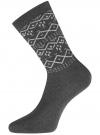 Комплект из шести пар хлопковых носков oodji для женщины (разноцветный), 57102902-5T6/49118/50