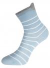 Комплект из трех пар хлопковых носков oodji для женщины (разноцветный), 57102802-3T3/47613/32 - вид 4