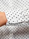 Блузка базовая из вискозы oodji #SECTION_NAME# (белый), 11411136B/26346/1229D - вид 5