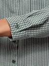 Блузка базовая из вискозы с нагрудными карманами oodji #SECTION_NAME# (зеленый), 11411127B/42540/6930G - вид 5