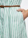 Платье с поясом без рукавов oodji #SECTION_NAME# (зеленый), 12C13008-1/46683/6512S - вид 5