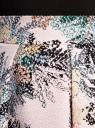 Юбка миди со встречными складками oodji для женщины (розовый), 21600300/45367/4065F