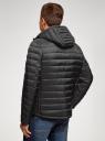 Куртка стеганая с капюшоном oodji #SECTION_NAME# (черный), 1B112009M/25278N/2900N - вид 3