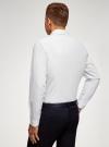 Рубашка приталенного силуэта с длинным рукавом oodji для мужчины (белый), 3L110368M/49382N/1029S - вид 3