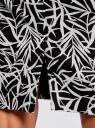 Юбка прямая классическая oodji для женщины (черный), 21601254-5/45503/2912F