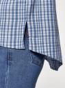 Рубашка свободного силуэта с асимметричным низом oodji #SECTION_NAME# (синий), 13K11002-6/49405/7010C - вид 5