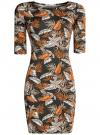 Платье трикотажное облегающее oodji #SECTION_NAME# (разноцветный), 14001121-3B/16300/6855F