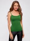 Топ трикотажный на тонких бретелях oodji для женщины (зеленый), 14305023-4B/45297/6E00N - вид 2