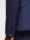 Пиджак приталенного силуэта oodji #SECTION_NAME# (синий), 2L420266M/48579N/7900O - вид 5