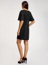 Платье из искусственной замши свободного силуэта oodji #SECTION_NAME# (черный), 18L11001/45622/2900N - вид 3