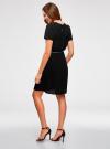 Платье с вырезом-капелькой и поясом на резинке oodji #SECTION_NAME# (черный), 11913043/46633/2900N - вид 3