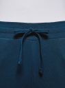 Брюки трикотажные на завязках oodji для женщины (синий), 16701055B/47999/7901N