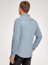 Рубашка джинсовая с нагрудным карманом oodji #SECTION_NAME# (синий), 6L410003M/35771/7000W - вид 3