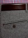 Брюки хлопковые зауженные oodji для мужчины (серый), 2L210272M/49370N/2923O