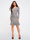 Платье вязаное с расклешенным низом oodji для женщины (серый), 63912223/46096/2500M - вид 2