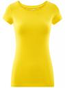Футболка базовая приталенная oodji #SECTION_NAME# (желтый), 14701005-7B/46147/5100N - вид 6