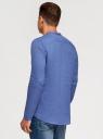 Рубашка льняная без воротника oodji #SECTION_NAME# (синий), 3B320002M/21155N/7500N - вид 3