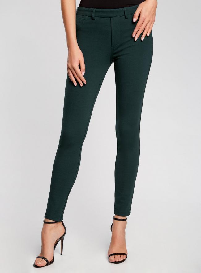 Легинсы трикотажные с карманами oodji #SECTION_NAME# (зеленый), 28700011/43597/6900N