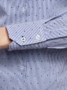 Блузка приталенная в горошек oodji #SECTION_NAME# (синий), 11403227/46079/1075G - вид 5