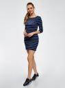 Платье трикотажное с принтом oodji для женщины (синий), 14001071-8/46148/7910P