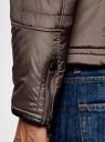 Куртка на молнии с воротником-стойкой oodji для мужчины (серый), 1L111034M/47801N/2300N