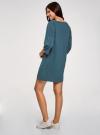 Платье прямого силуэта со спущенной проймой oodji #SECTION_NAME# (синий), 14008028/48940/7901N - вид 3