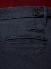 Брюки-чиносы slim oodji #SECTION_NAME# (синий), 2L150122M/47660N/7923O - вид 4