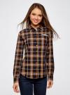 Рубашка принтованная хлопковая oodji для женщины (синий), 11406019/43593/7957C - вид 2