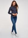 Блузка хлопковая с баской oodji #SECTION_NAME# (синий), 13K00001B/26357/7912Q - вид 6