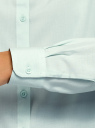 Блузка базовая из вискозы oodji #SECTION_NAME# (зеленый), 11411136B/26346/6502N - вид 5