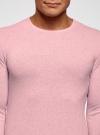 Джемпер базовый с круглым воротом oodji #SECTION_NAME# (розовый), 4B112003M/34390N/4100M - вид 4