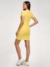Платье трикотажное с коротким рукавом oodji #SECTION_NAME# (желтый), 14011007/45262/5200N - вид 3